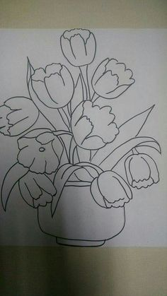 Ideas vintage drawing easy for 2019 Love Drawings, Easy Drawings, Drawing Sketches, Best Drawing For Kids, Embroidery Patterns, Hand Embroidery, Flower Art Drawing, Vintage Drawing, Ink Illustrations