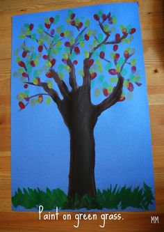 MirandaMade: Preschool Art: Fall Fingerprint Tree