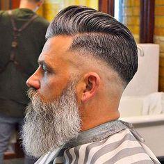Really Stylish Haircuts Faded Wirklich stilvolle Frisuren verblasst - Beard Haircut, Fade Haircut, Great Beards, Awesome Beards, Barber Haircuts, Haircuts For Men, Barber Haircut Styles, Hairstyles Haircuts, Cool Hairstyles