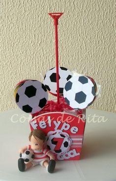 Centro de mesa festa futebol