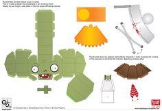 Conehead-1 of 2--- https://mayainpaper.wordpress.com/2012/11/16/plants-vs-zombies-papertoy-conehead-buckethead-zombie-2/#more-31