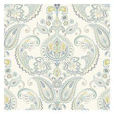 "York Wallcoverings Candice Olson Inspired Elegance Tasara 27' x 27"" Paisley Wallpaper & Reviews   Wayfair"