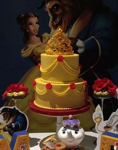 Bizcocho Beauty and the Beast para tu quinceañero - Mis Quince PR Beauty And Beast Birthday, Beauty And The Beast Theme, Beauty And Beast Wedding, Beauty And The Best, Beauty And The Beast Cake Birthdays, Beauty Beast, Disney Birthday, Girl Birthday, Birthday Parties