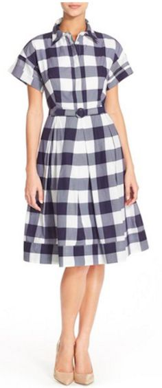 Darling gingham shirt dress