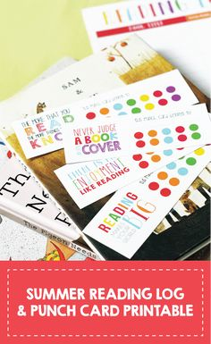 Summer Reading Log + Punch Card Printable