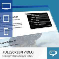 UPDATED Muse R8 Version. This is a great widget for easily adding full screen motion backgrounds to you Muse sites. The widget is aimed at desktop versions of the site due to limitations in mobile browsers but adds a new depth to sites.