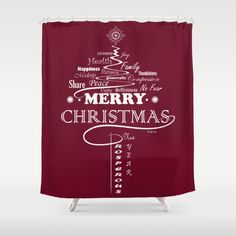The Wishing Christmas Tree Shower Curtain by weivy Tree Shower Curtains, Xmas, Christmas Tree, Button Hole, Presents For Friends, My Themes, Website Themes, Wooden Shelves, Curtain Rods