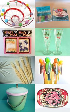 Retro Cocktail Party (With A Slice of Kitsch) by Jools on Etsy--Pinned with TreasuryPin.com
