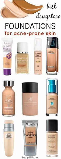 Best Drugstore Foundations for acne-prone skin