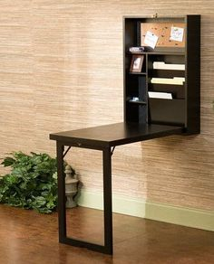 Wall Mounted Space-Saving Fold-Out Writing Desk <3