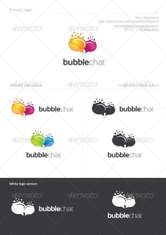 Bubble Chat Logo Design Template Vector #logotype Download it here: http://graphicriver.net/item/bubble-chat/1246084?s_rank=77?ref=nexion