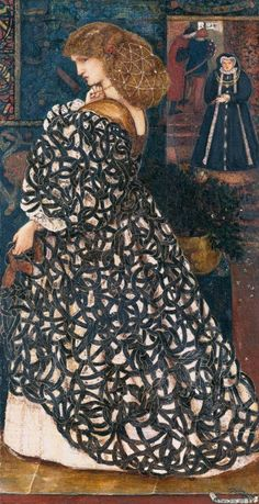 Edward Burne-Jones,Sidonia von Bork, 1860