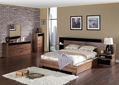 Backstein Tapete fürs moderne Schlafzimmer | Ziegel Wand | Pinterest ...