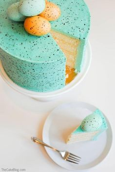 Speckled Easter Egg Cake