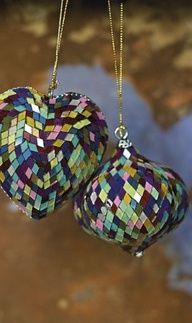 Mosaic Christmas Balls
