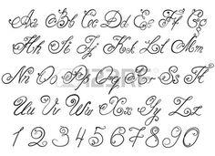 Vettore disegnato a mano di calligrafia lettere alfabeto disegnati a mano