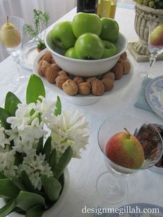tu B'Shevat table decorations - Google Search