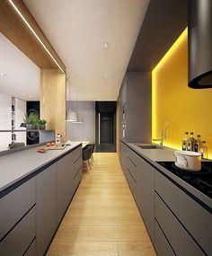 Quando a iluminação é só a cereja de um bolo bem feito  como não amar??  #cozinha #interiordesign #decor #inspiracao