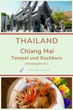 #chiangmai im Norden #thailands lockt mit kulturellen Highlights. Und so verbringe ich Stunden, um mir zahlreiche #tempel 🛕 anzusehen. Bspw. Wat Phra Singh, Wat Phra That Doi Suthep, Wat Sri Suphan. Bei einem #kochkurs lerne ich Thailands Küche kennen 🥣.  // #madoreisen #madounterwegs👣 #reisetagebuch #asien #travel // Werbung, da Firmen-/Marken-/Ort-/Personen-Nennung oder -Verlinkung ohne Auftrag, aber als persönliche Empfehlung // Dienstleistungen/Produkte/Unterkünfte selbst bezahlt // Chiang Mai, Thailand, Highlights, Travel Scrapbook, Temples, Advertising, Products, Luminizer, Hair Highlights