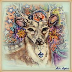 #deer#Wildlife#art# by AndreaLStephens.deviantart.com on @DeviantArt