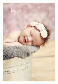 Pink Flower Shabby Chic Newborn Headband by sugarbugboutiquebows, $22.00
