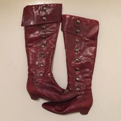 Jessica Simpson Shoes - Jessica Simpson Knee High Pirate Boots Dance Project, Jessica Simpson Shoes, Pirates, Leather Boots, Heeled Boots, Zipper, Heels, Fashion, High Heel Boots