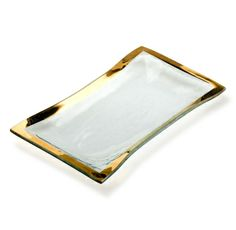 Annieglass - Roman Antique Gold Olive Tray