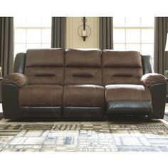 Earhart Manual Reclining Sofa | Ashley Furniture HomeStore Ashley Furniture Sofas, Furniture Logo, Furniture Deals, Living Room Furniture, Home Furniture, Living Room Decor, Furniture Design, Furniture Stores, Outlet Nike