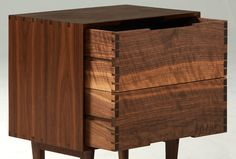 Danish Modern Inspired Walnut Night Stand / Side by sukrachand