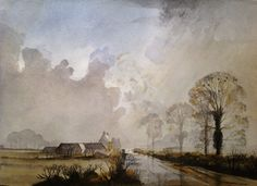 Rowland Hilder - Поиск в Google Watercolor Artwork, Watercolor Artists, Watercolor Landscape, Landscape Art, Shell Flowers, Winslow Homer, Oil Painters, Black And White Drawing, Sky And Clouds