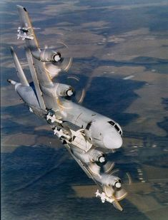 The type of plane that Rich flew in…US Navy P-3 Orion