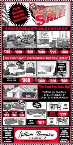 furniture sale ads. Exellent Furniture MEMORIAL DAY SALE Is Happening NOW Sofau0027s Bedu0027s 5Piece Table With Furniture Sale Ads