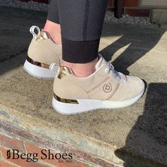 Gorgeous Galm in a touch of Gold with these Bugatti Trainers - Premium Comfort at it's best! Check out the full range here 👉 www.beggshoes.com/Womens/bugatti-shoes/ #bugatti #trainers #sneakers #athleisure #comfort Bugatti, Athleisure, Trainers, Range, Touch, Sneakers, Check, Gold, Fashion Trends