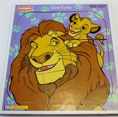 Lion King Puzzle - Playskool Wooden Puzzle: Disney's Lion King - Mufasa and Simba 8 pieces - Disney Puzzle by MyForgottenTreasures on Etsy Disney Puzzles, Disney Lion King, Wooden Puzzles, Vintage Games, Scooby Doo, Kids Room, Toys, Handmade, Painting