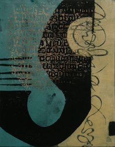 "Resonating Rhythm, by Anne Moore, monotype, 16""X13"""