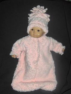 Pink Furry Bunting with Hat Doll Clothes Made to Fit Bitty Baby and Other 15 inch Dolls on Etsy, $14.99