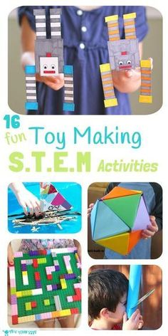 Inspire kids to develop skills in Science, Technology, Engineering and Math with these 16 Toy Making STEM Projects. Kids will love to make, learn and play! #AllThingsTech!