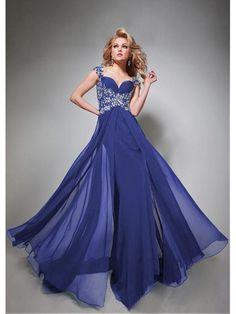 Alluring Silk Like Chiffon & Stretch Satin Sweetheart Neckline Floor-length Evening Dress Ball Dresses