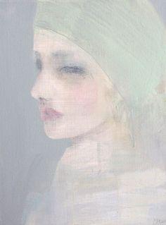 In Silk From Furthest Mist - Acrylic on Canvas (40 x 30cm) by Jorunn Mulen