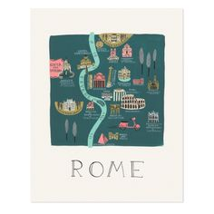 Rifle Paper Co Rome illustrated print – tea and kate