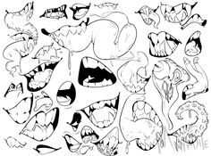Trilling Exercises To Get Better At Drawing Ideas. Astounding Exercises To Get Better At Drawing Ideas. Drawing Base, Figure Drawing, Boca Anime, Teeth Drawing, Anime Mouth Drawing, Drawing Sketches, Drawings, Poses References, Drawing Expressions