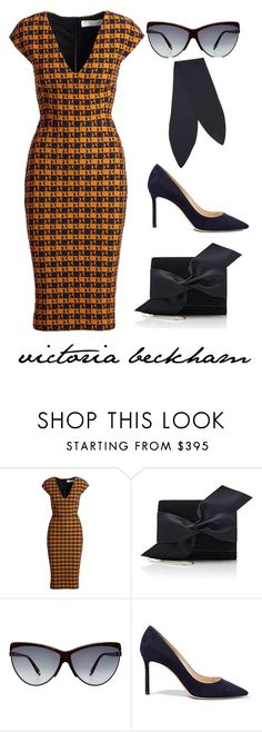 """victoria beckham"" by ms-ironickel ❤ liked on Polyvore featuring Victoria Beckham, Jimmy Choo and Chloé"