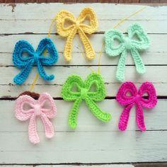 Crochet Applique Bow