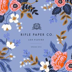 Rifle Paper Co. We're so excited to announce that our fabric collection with Cotton+Steel will be debuting Spring 2016! The collection will be sold by the yard on fabrics ranging from canvas to rayon. All screen printed in Japan.