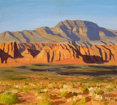 """Cliffs of Snow Canyon,"" Frank Ray Huff, Jr., oil on canvas (Utah)"