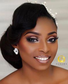 Make-up für schwarze Frauen Makeup for black women - Schönheit von Make-up Black Bridal Makeup, Bridal Hair And Makeup, Bride Makeup, Wedding Hair And Makeup, Glam Makeup, Eye Makeup, Makeup Black Women, Makeup Eyebrows, Makeup Brushes