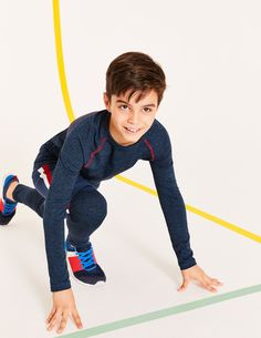 Johnnie b Long Sleeve Active T-shirt Blue Boys Boden - Male - Blue - Size: Shoes Without Socks, Barefoot Kids, Neck And Back Pain, Cute Disney Wallpaper, Back Pain Relief, Kids Swimwear, Sports Stars, T Shirts, Cool Kids