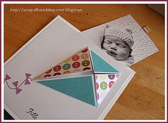 FP - shows picture insert Faire Part Invitation, Baby Birth, Alba, Baby Time, Stamping Up, Baby Cards, Kite, Making Ideas, Paper Art