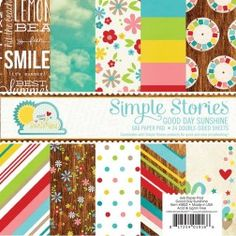 """Simple Stories - Good Day Sunshine - 6x6"""" Paper Pad"""