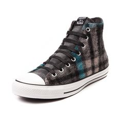 Don't let cold weather cramp your style this season, look to the cozy new Converse Chuck Taylor Woolrich Sneaker! The Converse All Star Hi Woolrich rocks a comfy wool upper in a trendy plaid colorway with signature logo patch. Only available in select stores and online at Journeys.com and SHIbyJourneys.com!